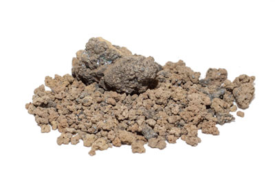 a pile of lead in multiple rocky sizes