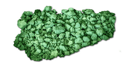 a pile of gravel-sized green nickel
