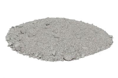 fine light grey powdered zinc dust